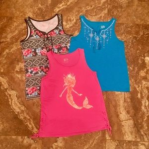 Justice girls size 20 set of 3 adorable tank tops